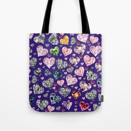 Heart Diamonds are Forever Love Violet Tote Bag