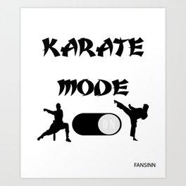 Karate martial arts sports power struggle gift Art Print