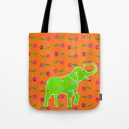 Elephant - green Tote Bag