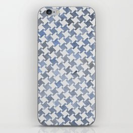 MODERN HOUNDSTOOTH (BLUE), hand-painted by Frank-Joseph iPhone Skin