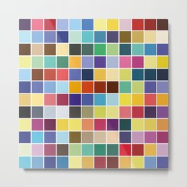 Pantone Color Palette - Pattern Metal Print