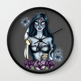 Day of the Dead Emily from The Corpse Bride Wall Clock