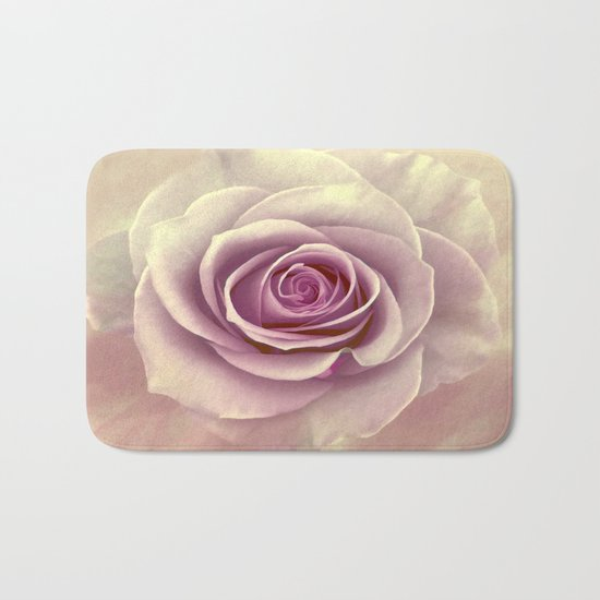 Tea Rose Painterly Abstract Bath Mat