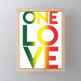 One Love Rasta Reggae Rastafari Music Lovers Gift Framed Mini Art Print