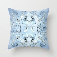 crystals Throw Pillows featuring Crystals by Armin
