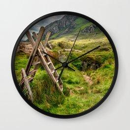 Stile To Tryfan Mountain Wall Clock