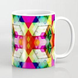 Cutout Facet Pattern Coffee Mug