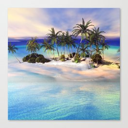 Wonderful view over the island Canvas Print