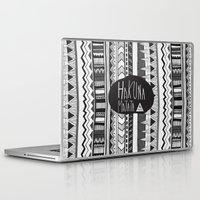 hakuna Laptop & iPad Skins featuring HAKUNA MATATA  by Vasare Nar