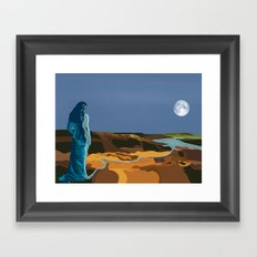 Woman Into Water, Water Into Woman Framed Art Print