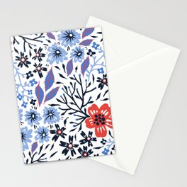 Colorful Spring flowers Stationery Cards