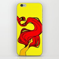 redhead iPhone & iPod Skins featuring Redhead by Moonworkshop