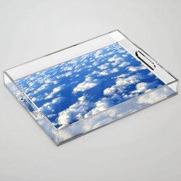 Blue Blue Sky by Lika Ramati Acrylic Tray
