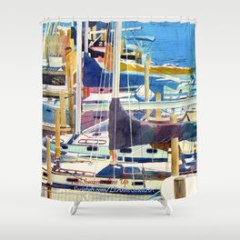 The Summer Line Up Shower Curtain