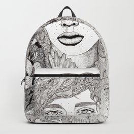 Humans and Animals - Ink artwork Backpack