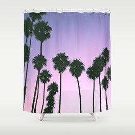 Palm Tree Purple Sunset Shower Curtain