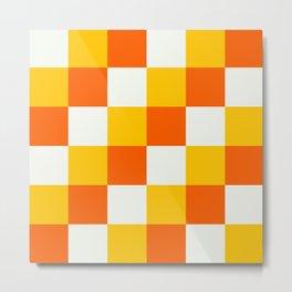 Checkerboard Menehune - Colorful Decorative Abstract Art Pattern Metal Print