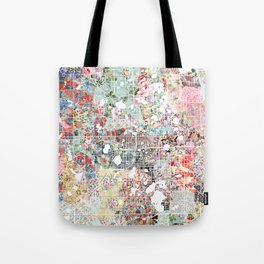 Orlando map landscape Tote Bag