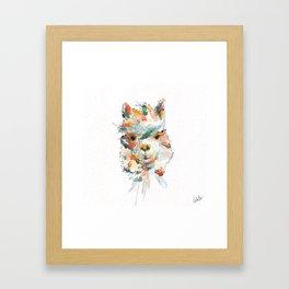 + Watercolor Alpaca + Framed Art Print
