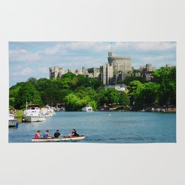Windsor Castle from the River Thames Rug