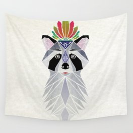 raccoon spirit Wall Tapestry