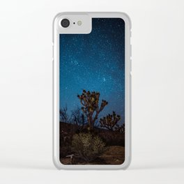 Midnight Stars at Joshua Tree Clear iPhone Case