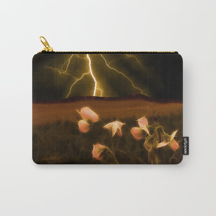In darkest night one sees the flash but beauty soothes the karmic crash Carry-All Pouch