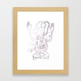 Hail Sagan Framed Art Print