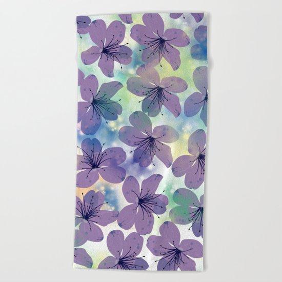 Floral Pattern #4 Beach Towel