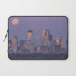Supermoon Setting over Minneapolis Illuminated by Dawn Laptop Sleeve