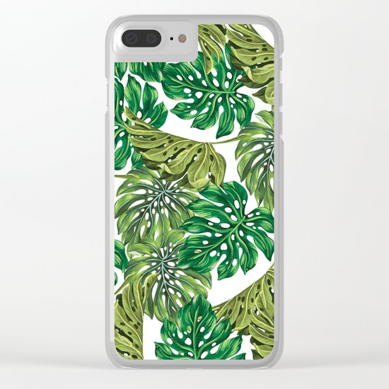 tropical haven Clear iPhone Case