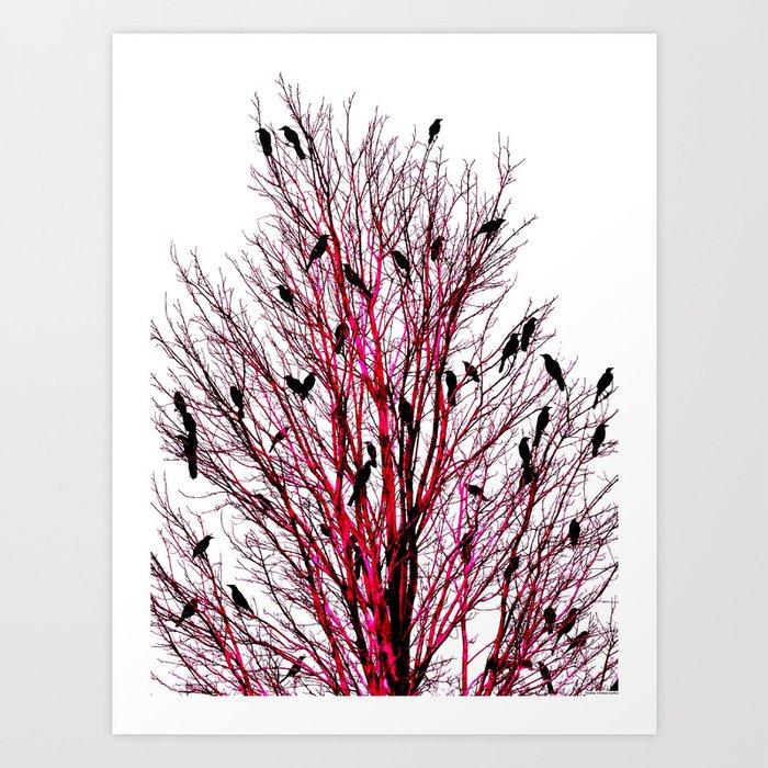"""Birds of Texas - Red"" Art Print"