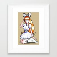 polka Framed Art Prints featuring Polka by Flying Cat Artwork
