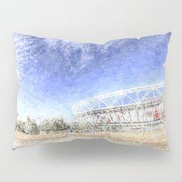 West Ham Olympic Stadium And The Arcelormittal Orbit Snow Pillow Sham