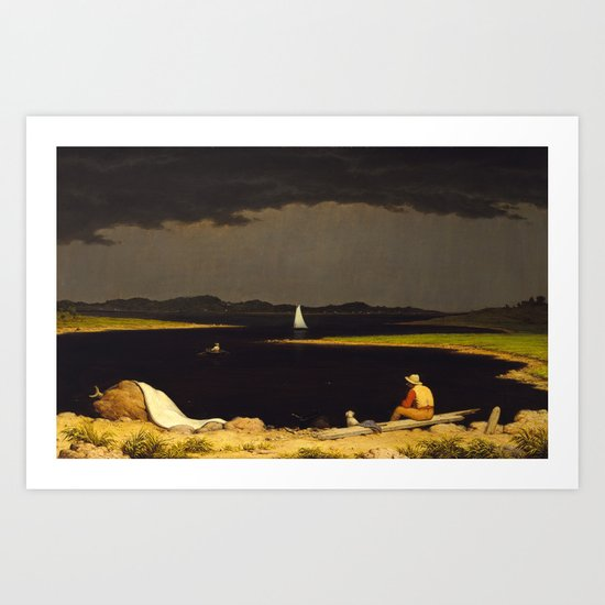 Approaching Thunder Storm by Martin Johnson Heade, 1859 by fineearthprints