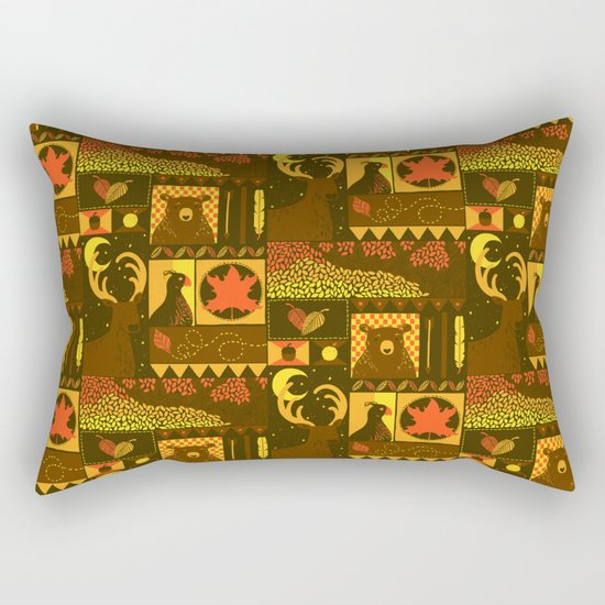 Fall Square Rectangular Pillow