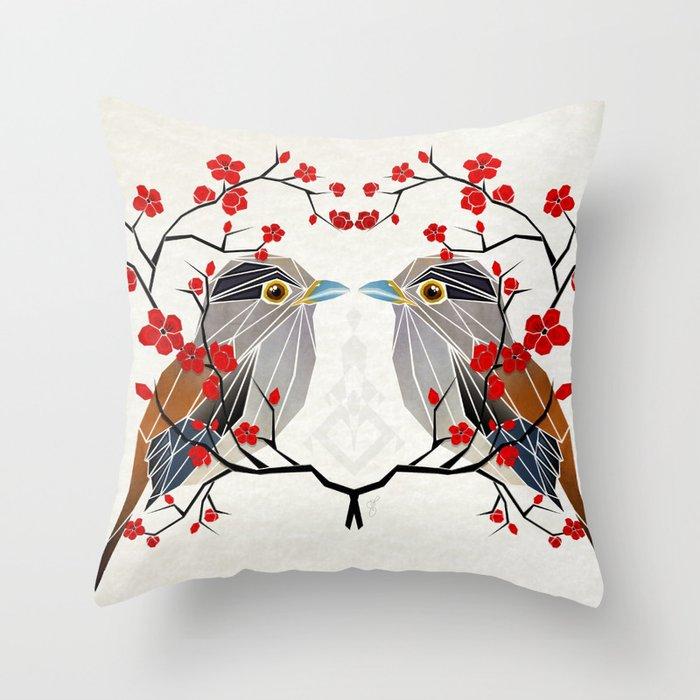 look at me my bird  Throw Pillow