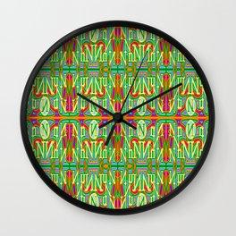Nn - pattern 2 Wall Clock