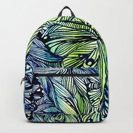 Blue Pen & Ink Butterflies Backpack