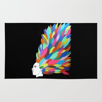 creativity Area & Throw Rugs featuring Creativity by Roparisart