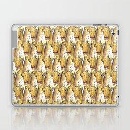 girafe eating a pizza pattern Laptop & iPad Skin