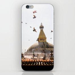 Stupa of Bodnath iPhone Skin