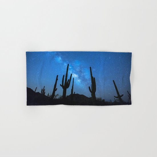 Cacti Milky Way Hand & Bath Towel