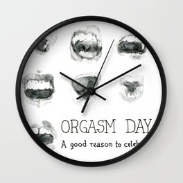 Orgasm Day Wall Clock