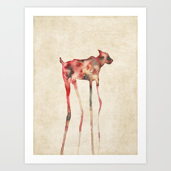 old sighthound Art Print