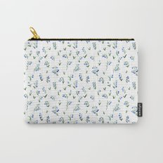 blue lily subtle pattern Carry-All Pouch