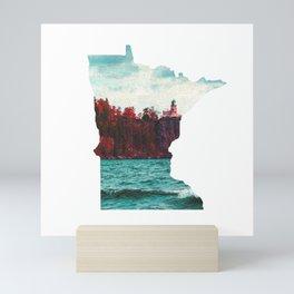 Minnesota-Split Rock Lighthouse at Lake Superior Mini Art Print