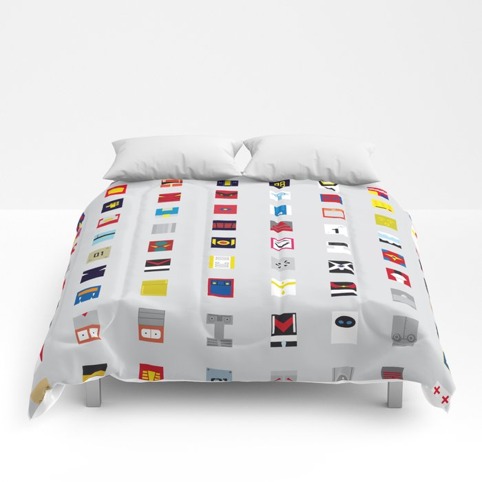 Minimalism robots (Good natured / Defenders) Comforters