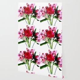 Pink Alstroemeria Watercolors Wallpaper