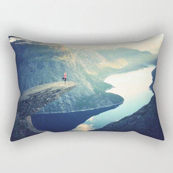 Trolltunga Landscape Scandinavian Norway Rectangular Pillow